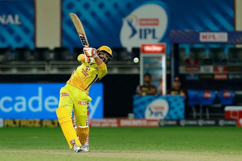 Ravindra Jadeja scored an unbeaten 31 off just 11 balls for CSK against KKR [P/C: iplt20.com]