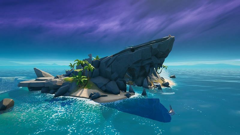 Sharky Shell is located near Coral Castle in Fortnite (Image credit: Gamepur)