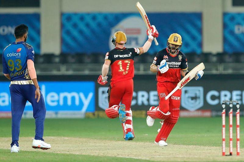 मुंबई इंडियंस के खिलाफ जीत दर्ज करने के बाद रॉयल चैलेंंजर्स बैंगलोर