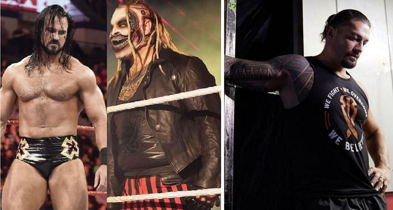 McIntyre, The Fiend, and Roman Reigns