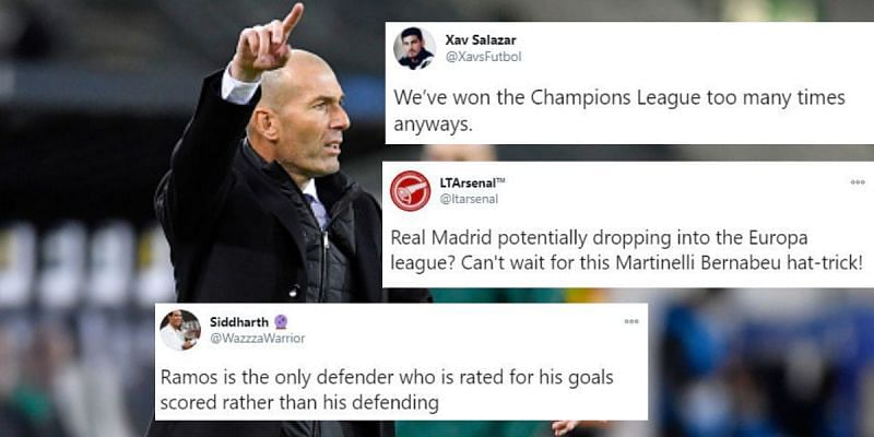 Real Madrid suffered a damaging defeat in the Champions League again