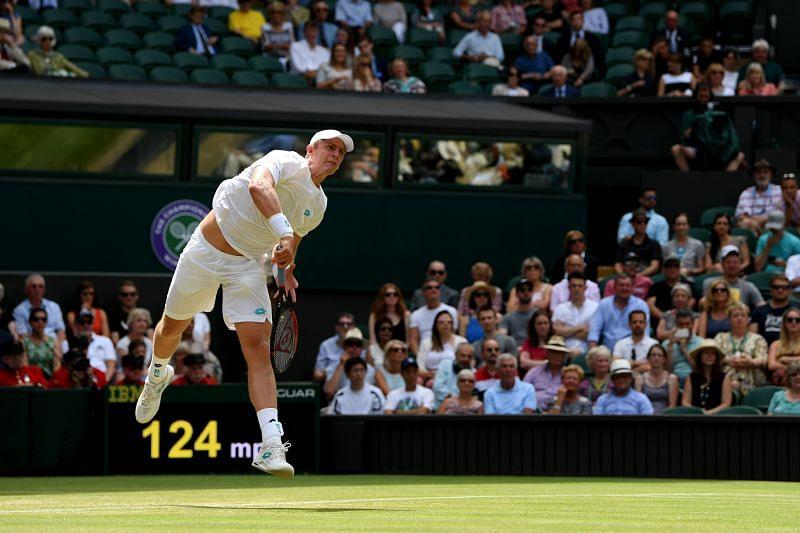 Kevin Anderson at Wimbledon 2019