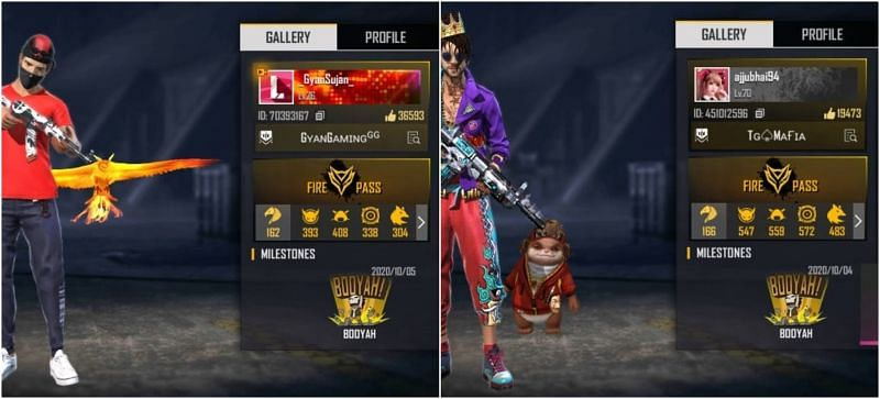 Total Gaming vs Gyansujan: Who has better stats in Free Fire?