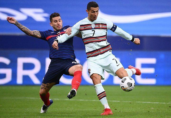 Cristiano Ronaldo was twice denied by France