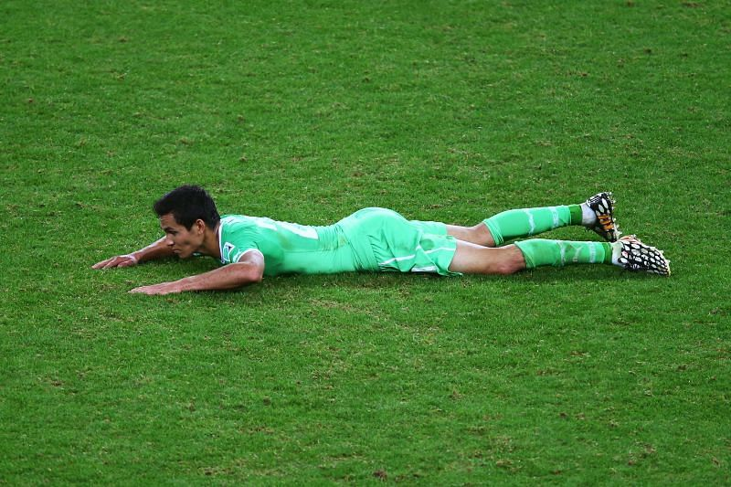 Algeria have been defensively resolute with Mandi at his best