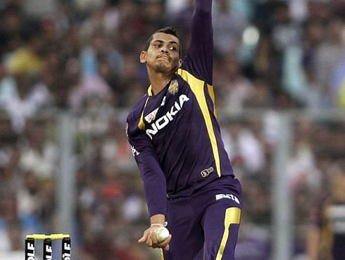Sunil Narine was introduced into the attack in the 12th over by KKR