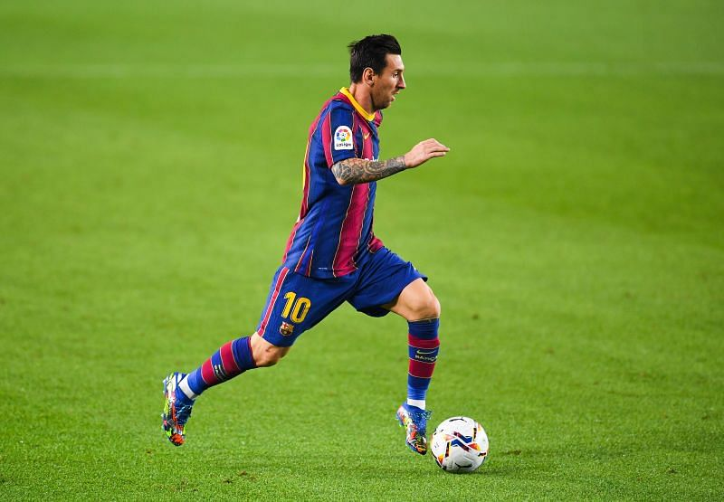Messi has less than a year left on his current Barcelona deal