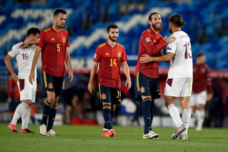 Spain defeated Switzerland in the UEFA Nations League