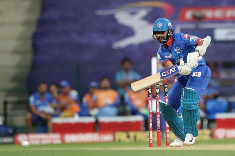 Ajinkya Rahane played his first match of the season against MI on Sunday (Credits: IPLT20.com)