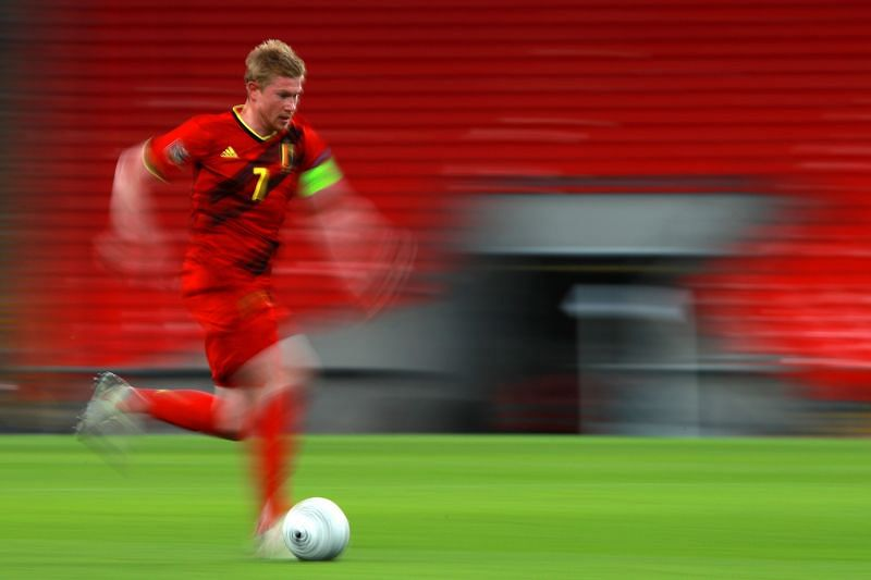 Kevin De Bruyne picked up an injury during Belgium