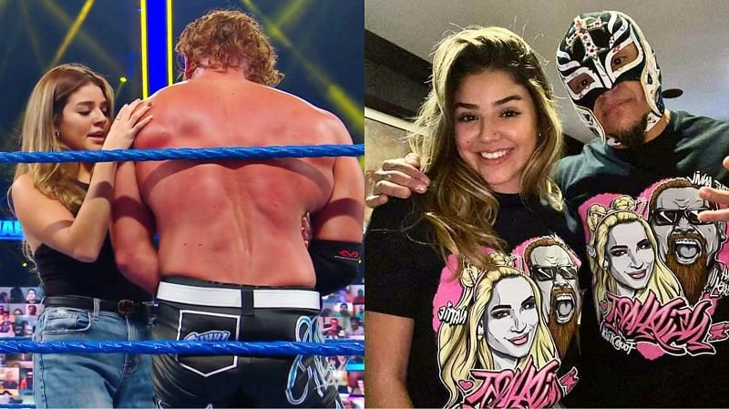 Aalyah and Murphy (left), Aalyah and Rey Mysterio (right)