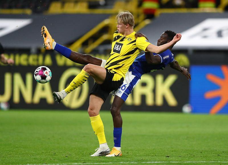 Haaland in action for Dortmund