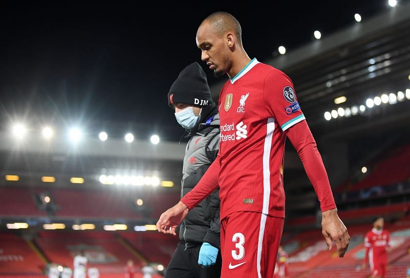 Liverpool lost Fabinho to an injury early in the first half.