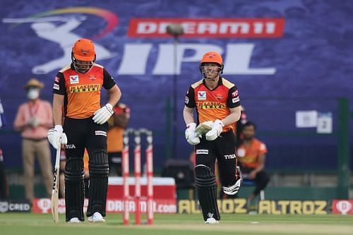 Can the SRH openers put up a good show against KXIP today?