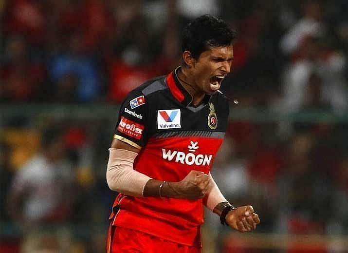 Navdeep Saini. Pic: BCCI/IPLT20.COM