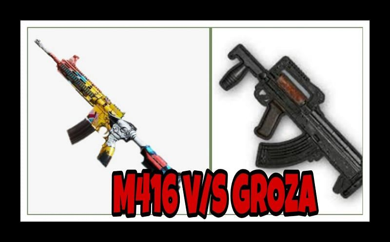 PUBG Mobile M416 Vs Groza; Which assault rifle is better