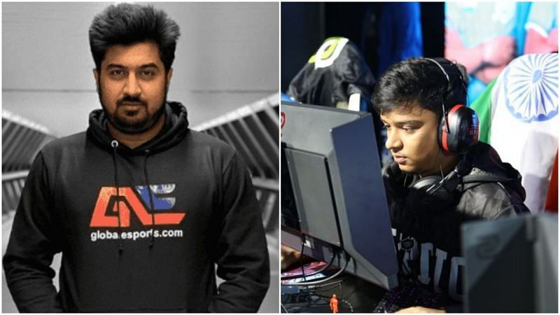 Dr. Sinha accuses Antidote of cheating (image credits: Global Esports Left, Sabyasachi Bose Right)