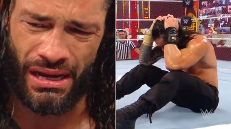 Roman Reigns got emotional at WWE Hell in a Cell