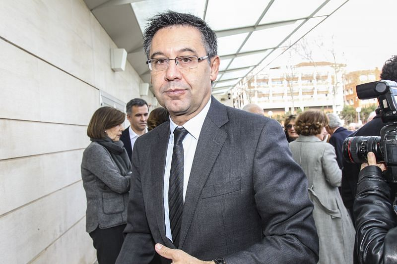 A vote of no confidence was passed against Barcelona president Bartomeu earlier this month