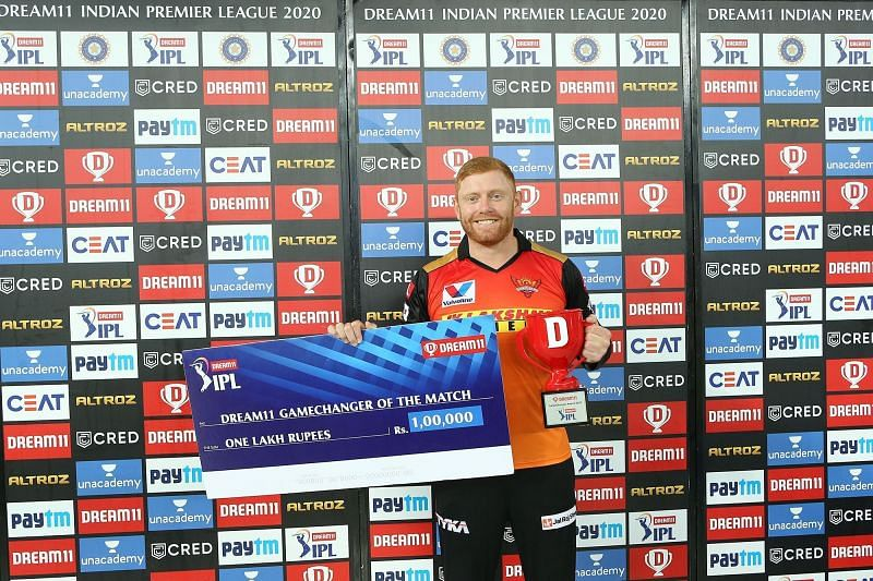 Jonny Bairstow was awarded the Man of the Match for his enterprising knock [P/C: iplt20.com]