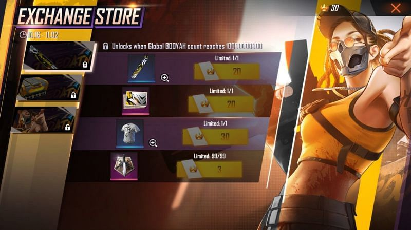 Exchange mechanism in Free Fire
