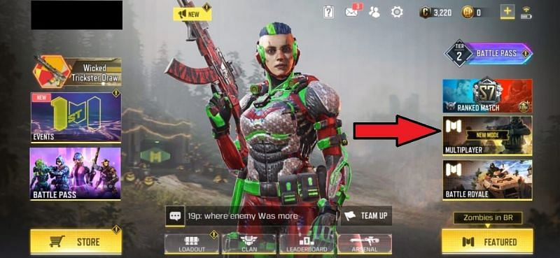 Click on the multiplayer option