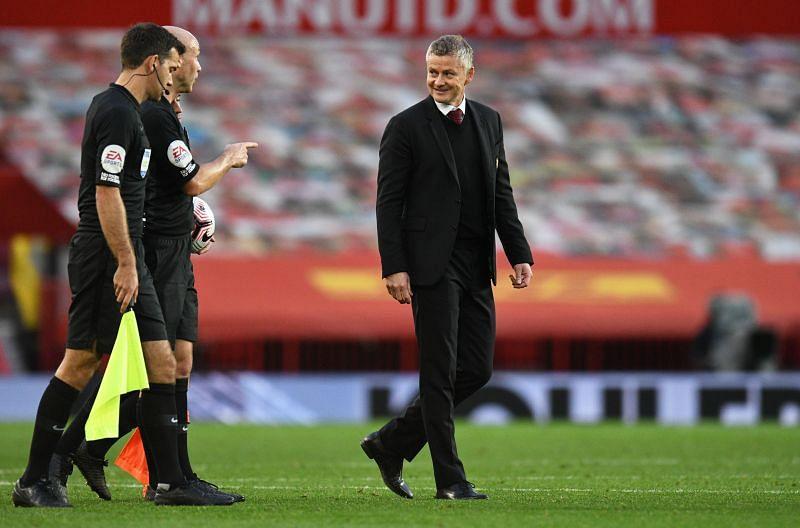 Manchester United manager Ole Gunnar Solskjaer after a game