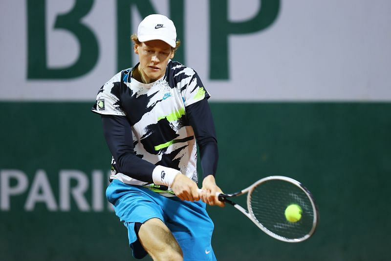 Jannik Sinner during his second round win at the 2020 French Open
