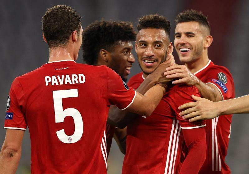 Bayern Munich celebrate Tolisso