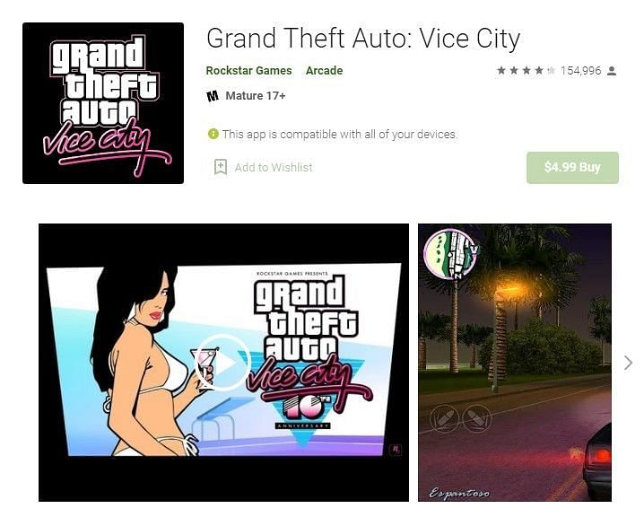 GTA Vice City on the Google Play Store