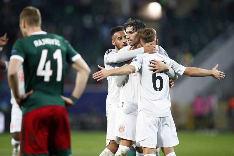 Bayern Munich left it late in Moscow but came away with a hard-fought 2-1 win.
