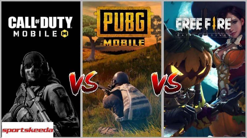 PUBG Mobile vs Free Fire vs COD Mobile
