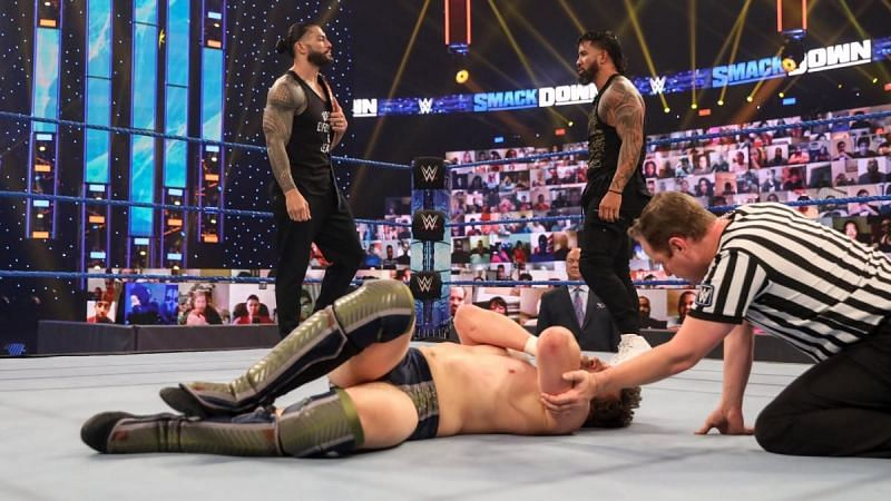 Roman Reigns, Jey Uso and Daniel Bryan on SmackDown
