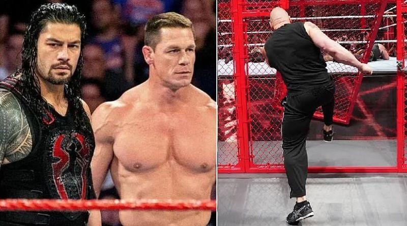 Roman Reigns, John Cena, and Brock Lesnar