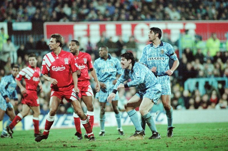 Striker - and Liverpool fan - Mick Quinn inspired Coventry to a 5-1 win over the Reds in 1992-93.