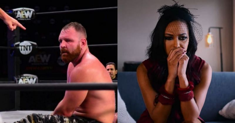 Jon Moxley and Brandi Rhodes.