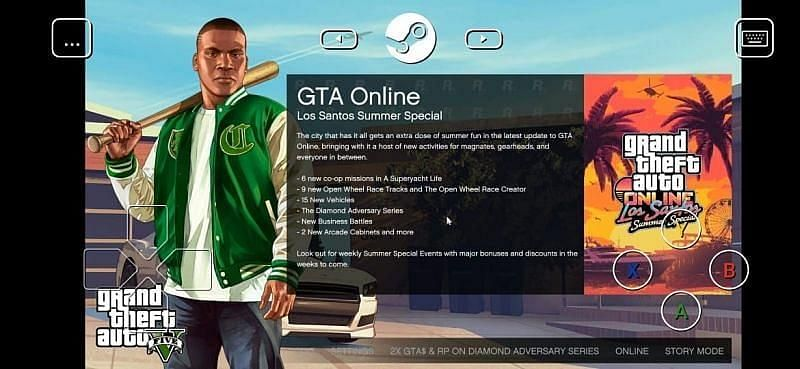 GTA 5 on Steam Link