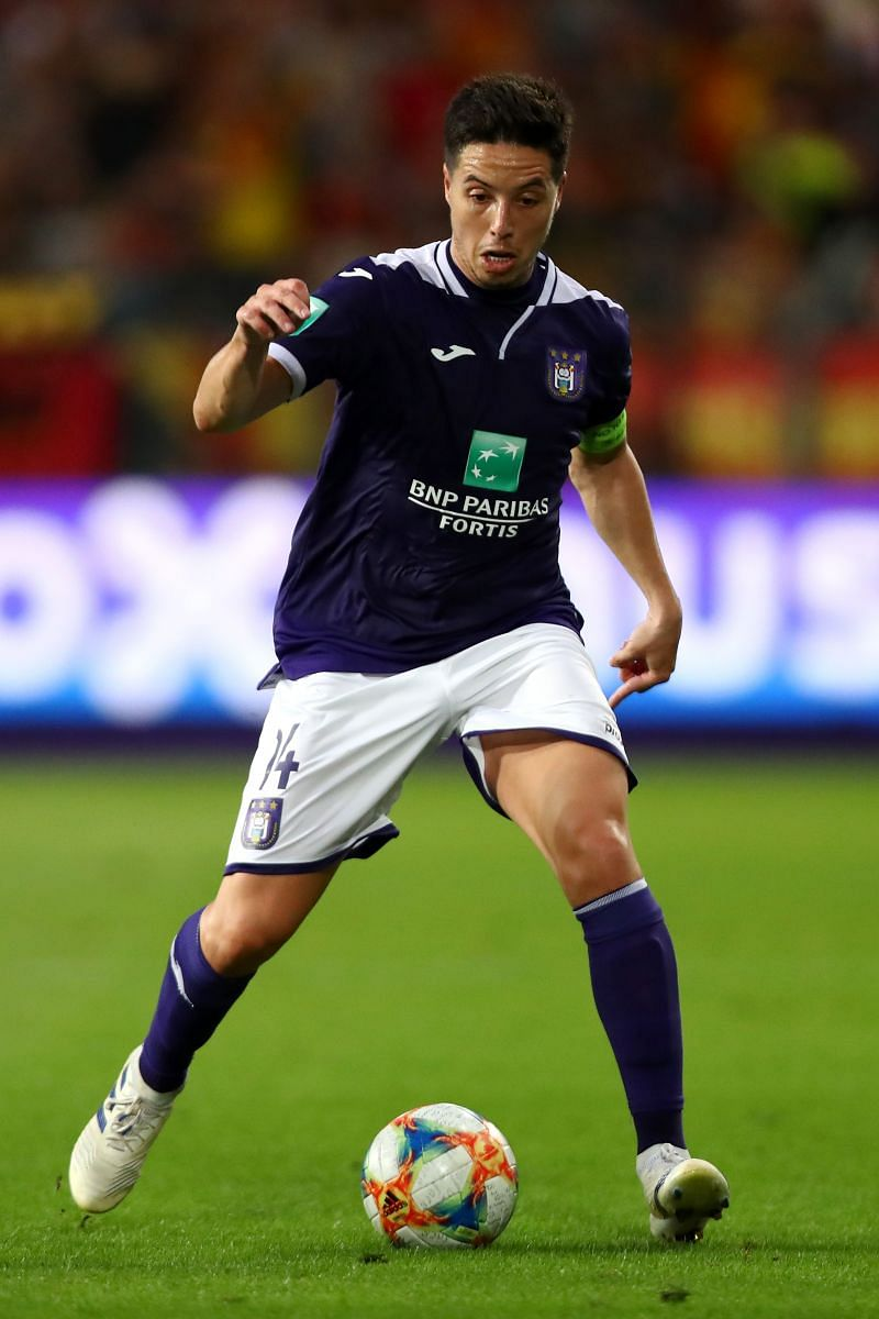 Samir Nasri in action for RSC Anderlecht against KV Mechelen - Jupiler Pro League