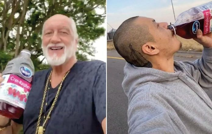 73-year old Mick Fleetwood (L) and Nathan Apodaca (R) in the original TikTok video (Image Credits: nme.com)