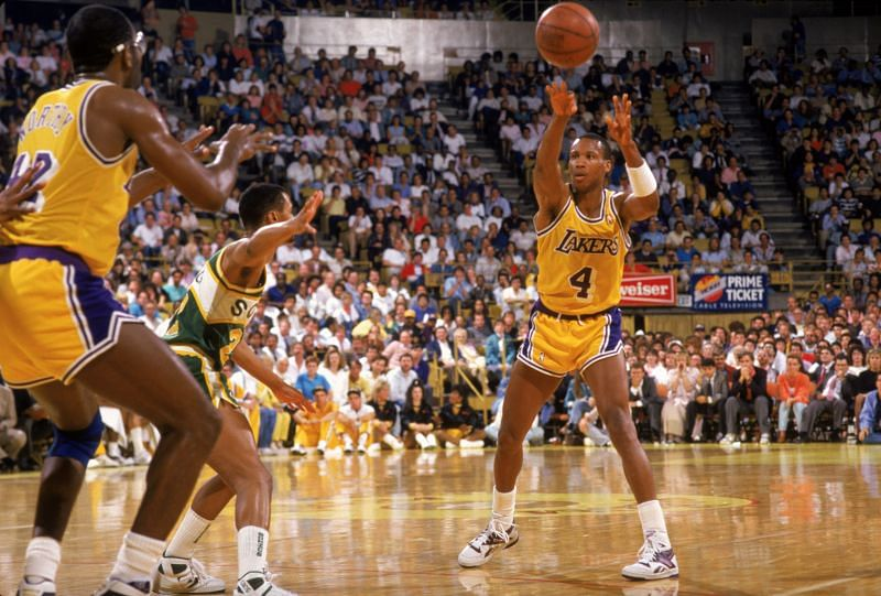 Byron Scott playing for the LA Lakers: Getty Images