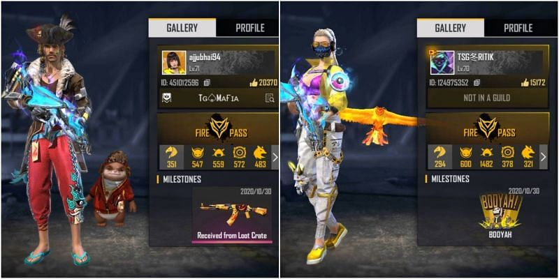 Who has better stats between Total Gaming and TSG Ritik in Free Fire?