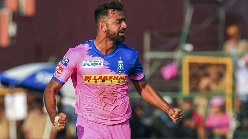 Jaydev Unadkat bowled just two overs for Rajasthan Royals yesterday
