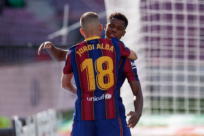 Jordi Alba assisted Fati