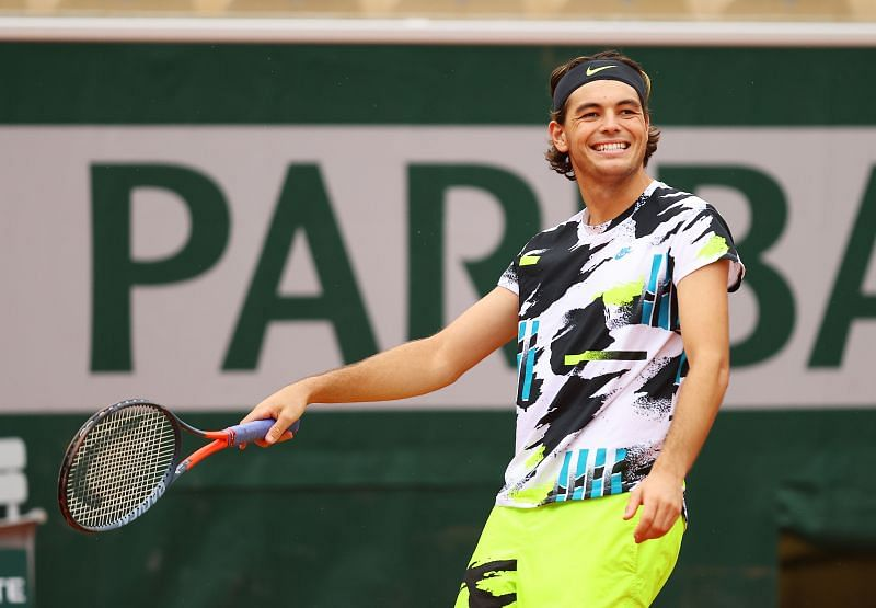 Taylor Fritz at the 2020 French Open