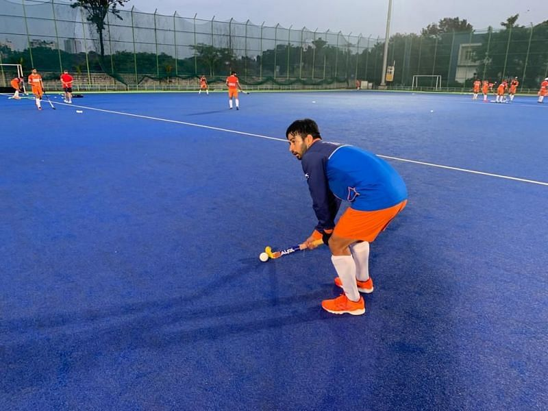 Manpreet Singh, the captain of India