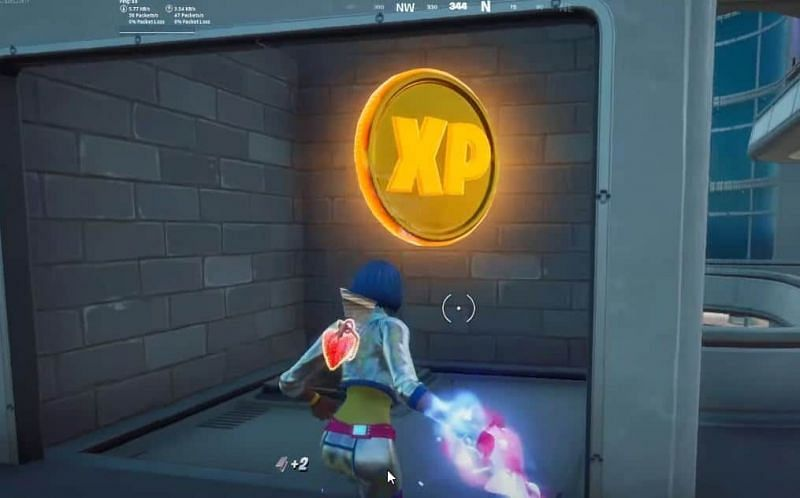 Gold XP coins give the most amount of experience points in Fortnite (Image Credits: Fortnite Insider)