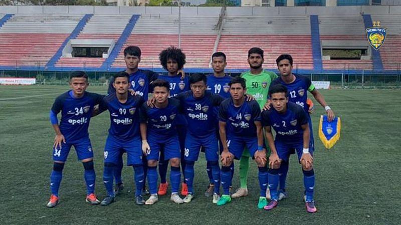 Chennaiyin FC youth squad (Goalkeeper: BY Revanth)