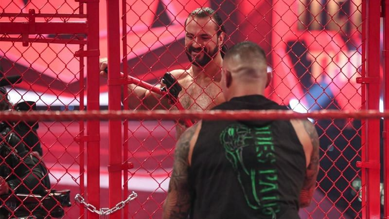 Drew McIntyre and Randy Orton at Hell in a Cell