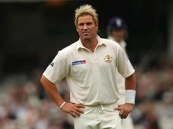 Shane Warne during the historic 2005 Ashes