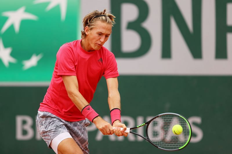 Sebastian Korda during his third round win over Pedro Martinez of Spain at the French Open